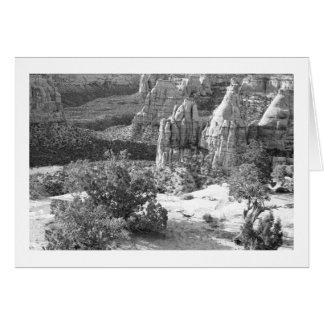 Carte de voeux de blanc de monument national du