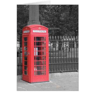 Carte de voeux de boîte de téléphone des Anglais