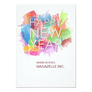 Carte de voeux de bonne année carton d'invitation  12,7 cm x 17,78 cm