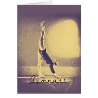 """Carte de voeux de """"bonne chance"""" de gymnaste"""