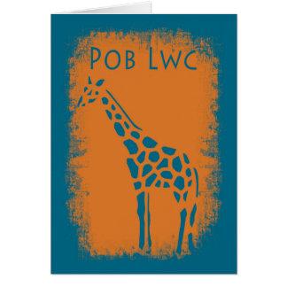 Carte de voeux de bonne chance de Pob Lwc Gallois