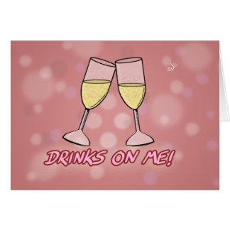 Carte de voeux de cannelures de Champagne