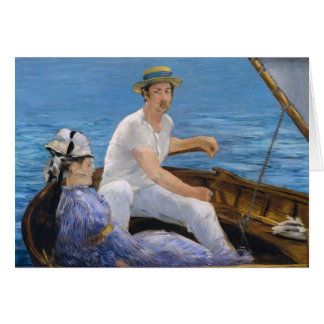 Carte de voeux de canotage de Manet