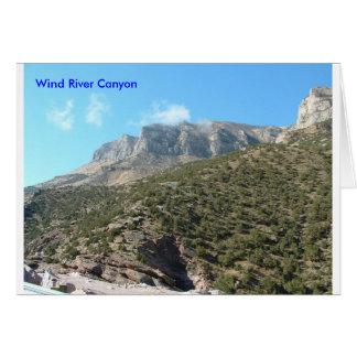 Carte de voeux de canyon de Wind River