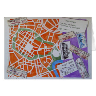 Carte de voeux de carte de Cracovie