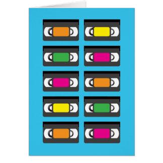 Carte de voeux de cassettes vidéo