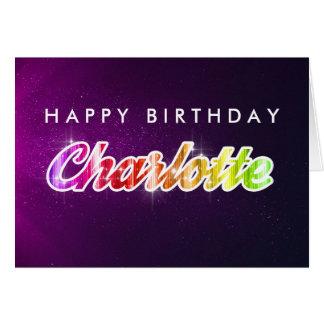 Carte de voeux de Charlotte de joyeux anniversaire