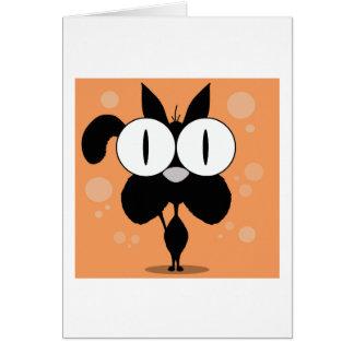 Carte de voeux de chat, enveloppes blanches