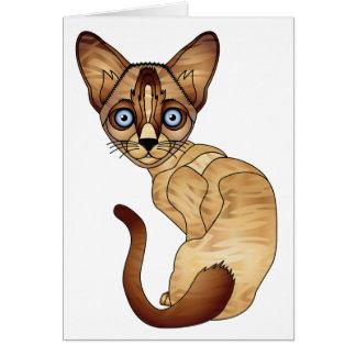 Carte de voeux de chat siamois