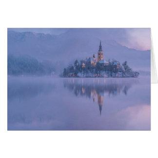 Carte de voeux de château de conte de fées