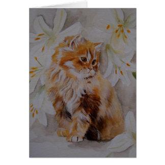 Carte de voeux de chaton