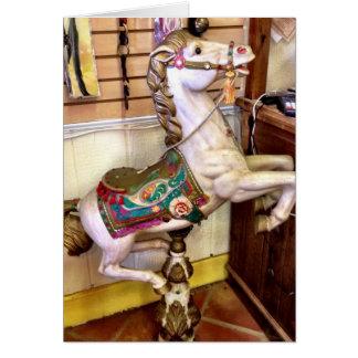 Carte de voeux de cheval de carrousel
