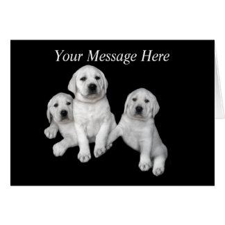 Carte de voeux de chiot de labrador retriever