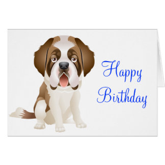 carte anniversaire chien saint bernard