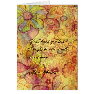 Carte de voeux de citation de Jane Austen