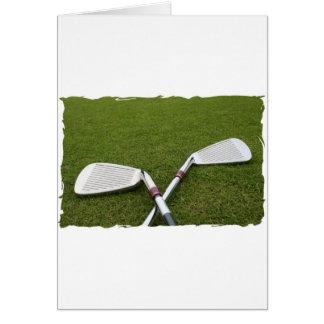 Carte de voeux de conception de club de golf