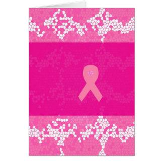 Carte de voeux de conscience de cancer du sein