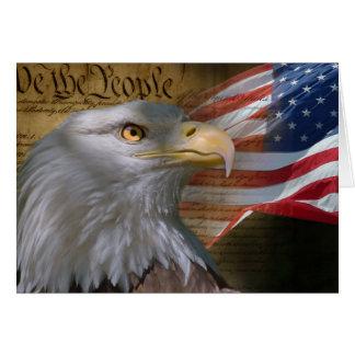 Carte de voeux de constitution de drapeau d'Eagle