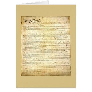 Carte de voeux de constitution d'Etats-Unis
