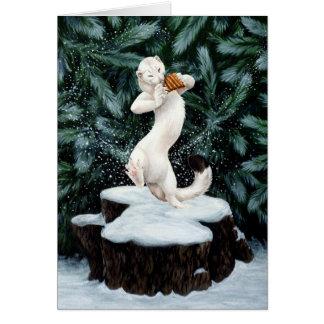 """Carte de voeux """"de danse de neige"""""""