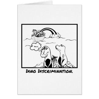 Carte de voeux de discrimination de dinosaure de
