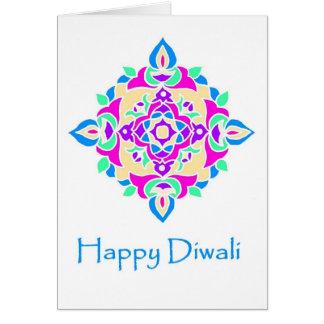 Carte Carte de voeux de Diwali avec le motif de Rangoli