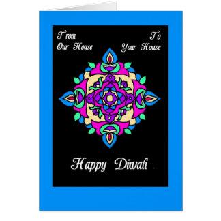 Carte Carte de voeux de Diwali de notre Chambre au vôtre