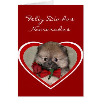 Carte de voeux de DOS Namorados Pomeranian de