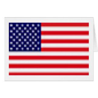 Carte de voeux de DRAPEAU des USA