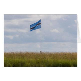 Carte de voeux de drapeau du Botswana