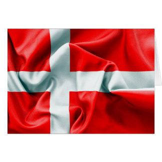 Carte de voeux de drapeau du Danemark