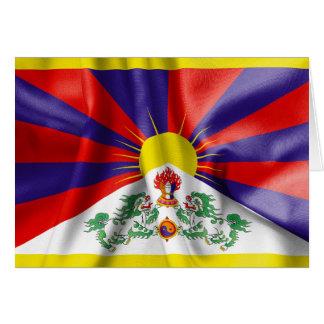 Carte de voeux de drapeau du Thibet