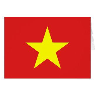 Carte de voeux de drapeau du Vietnam
