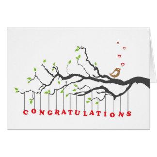Carte de voeux de félicitations avec le chant