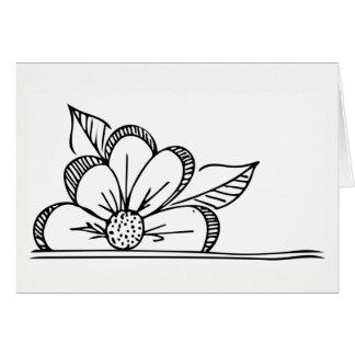 Carte de voeux de fleur - masquez à l'intérieur