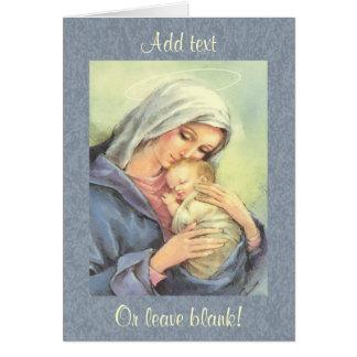 Carte de voeux de foi de Jésus de bébé de Mary de