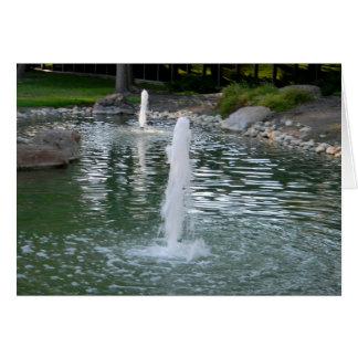Carte de voeux de fontaines
