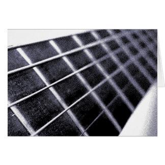 Carte de voeux de frette de guitare