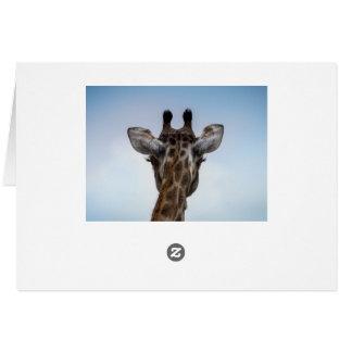 Carte de voeux de girafe (blanc)