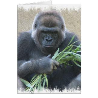 Carte de voeux de gorille de Silverback