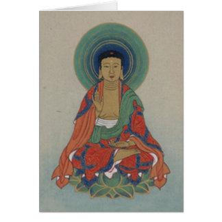 Carte de voeux de guérison Bouddha