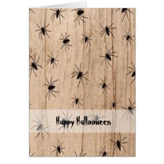 Carte de voeux de Halloween d'araignées