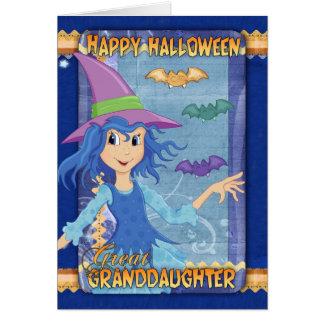carte de voeux de Halloween d'arrière-petite-fille