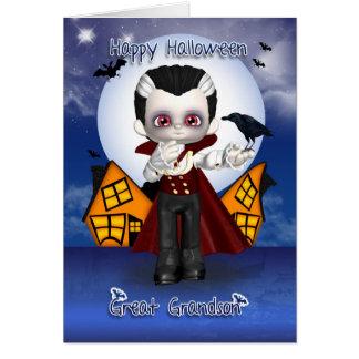 carte de voeux de Halloween de vampire d'amusement