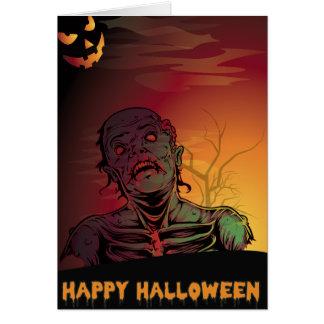 Carte de voeux de Halloween de zombi