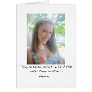 Carte de voeux de Hannah