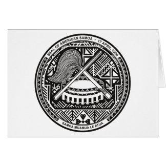 Carte de voeux de joint des Samoa américaines