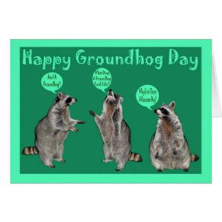 Carte de voeux de jour de Groundhog