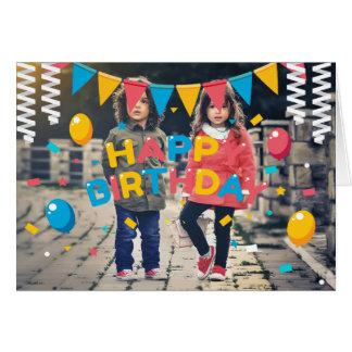 carte de voeux de joyeux anniversaire