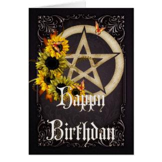 Carte de voeux de joyeux anniversaire de Wicca du